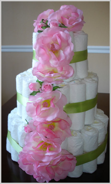 Diaper Cake Decorating Ideas : Baby Shower Cake Decorating Ideas Photograph diapercake jpg