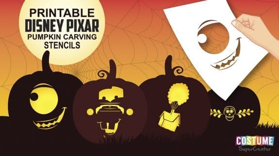 Disney Pixar pumpkin carving stencils