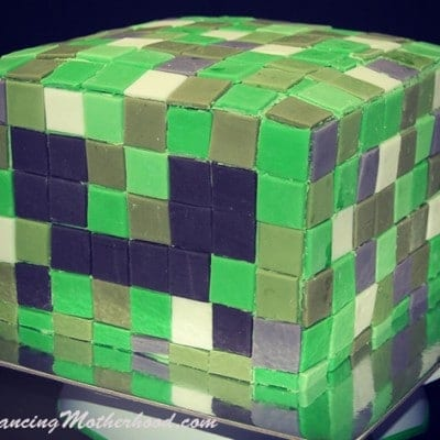 Minecraft Cake: Minecraft Creeper Birthday Cake