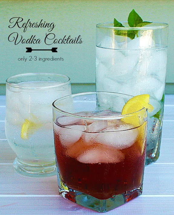 simple vodka cocktails w/ recipe on BalancingMotherhood.com
