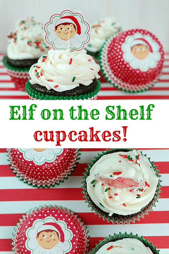 Super cute ELF on the SHELF cupcakes.
