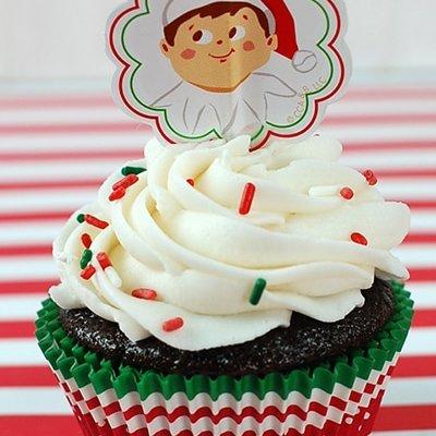 Elf on the Shelf Cupcakes