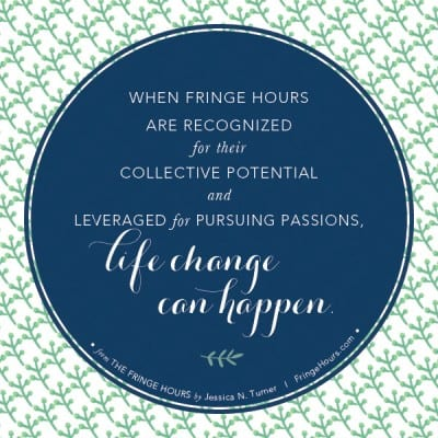 Life change can happen. #fringehours via BalancingMotherhood.com