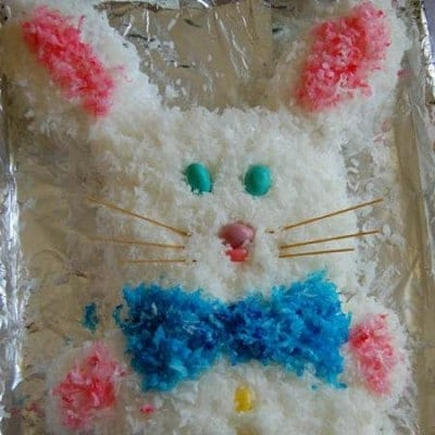 Easy Easter Bunny Cake Tutorial