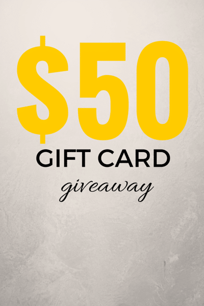 Enter For a Chance to Win $50 Gift Card!