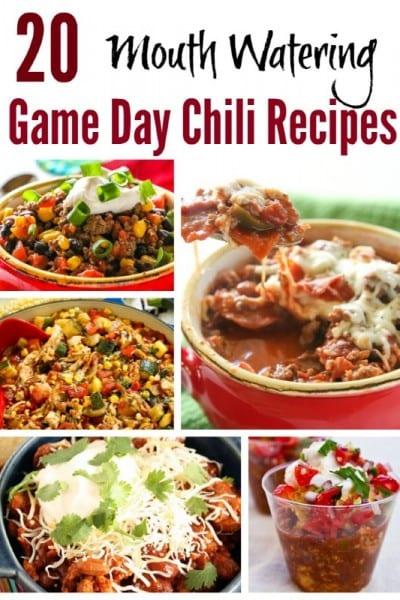 20 Game Day Chili Recipes