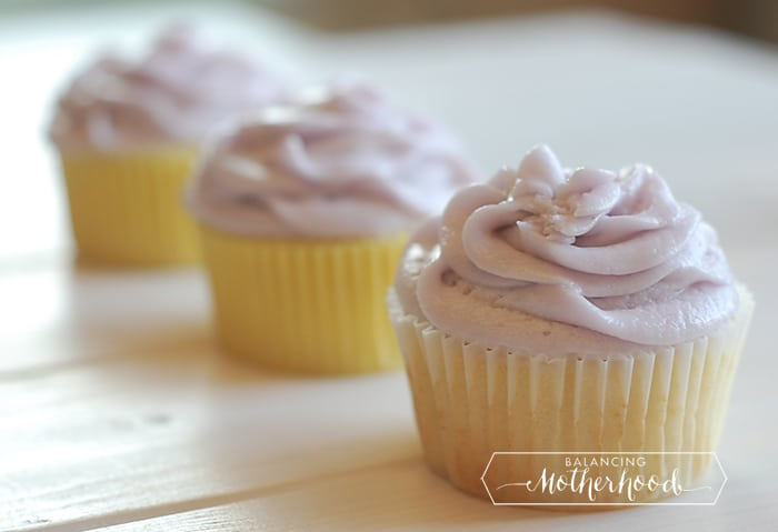 Lemon Cupcakes with Lavender Buttercream | Balancing ...
