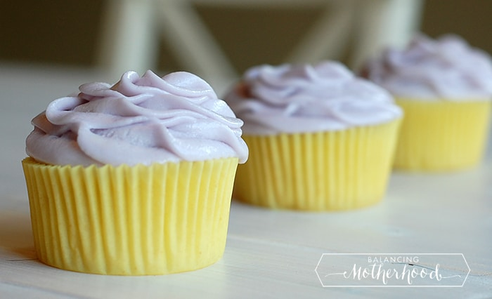 Lemon Cupcakes with Lavender Buttercream - Balancing ...