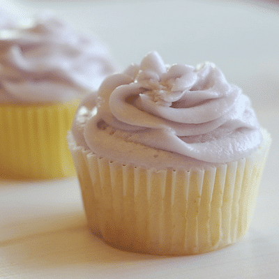 Lemon Cupcakes with Lavender Buttercream