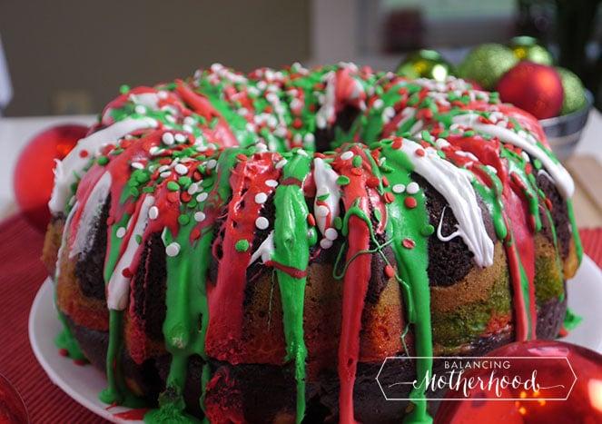Christmas Bundt Cake Recipe - Balancing Motherhood