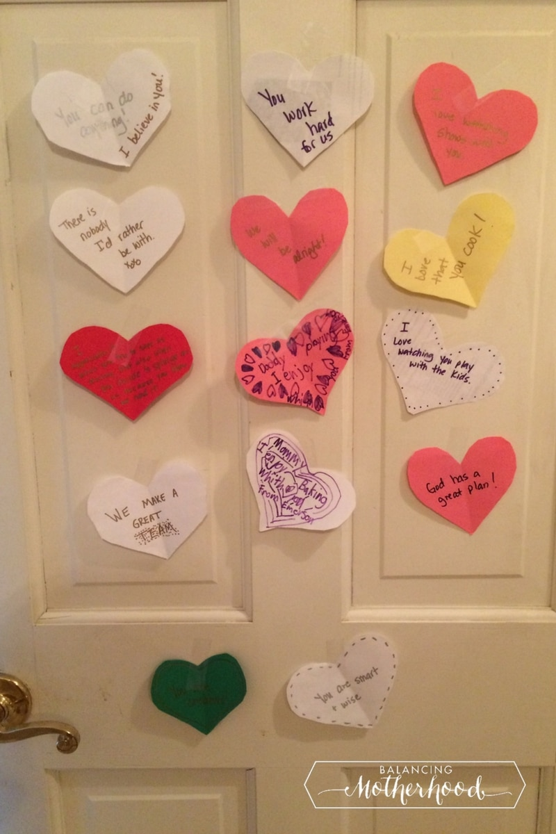 I even put some on my own bedroom door for my husband. He had just been laid off from his job and I was able to encourage him with words and affirmations ... & Valentine\u0027s Day Messages for Kid\u0027s Lunch boxes and Bedroom Doors ...