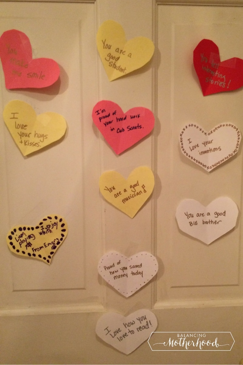 hearts & Valentineu0027s Day Messages for Kidu0027s Lunch boxes and Bedroom Doors ...