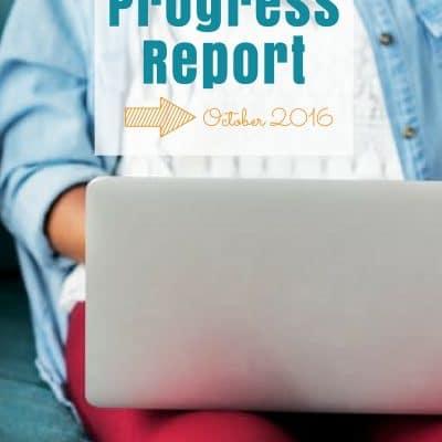 Blog Traffic & Progress Report – October 2016