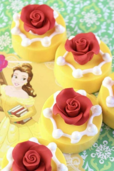 Beauty and the Beast cupcakes and cookies