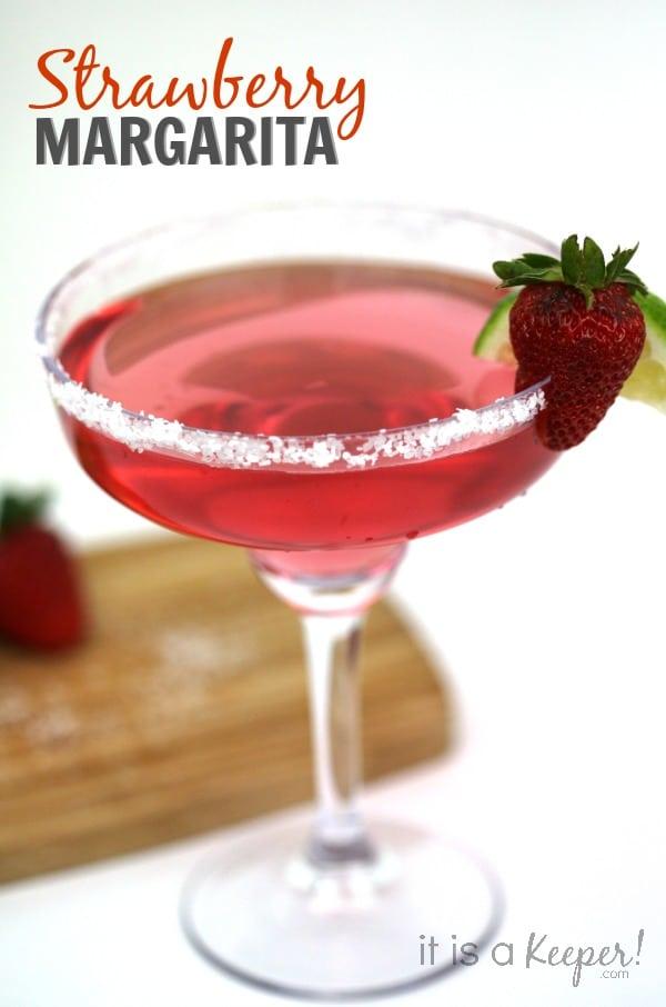 strawberry margarita Cinco de Mayo drink