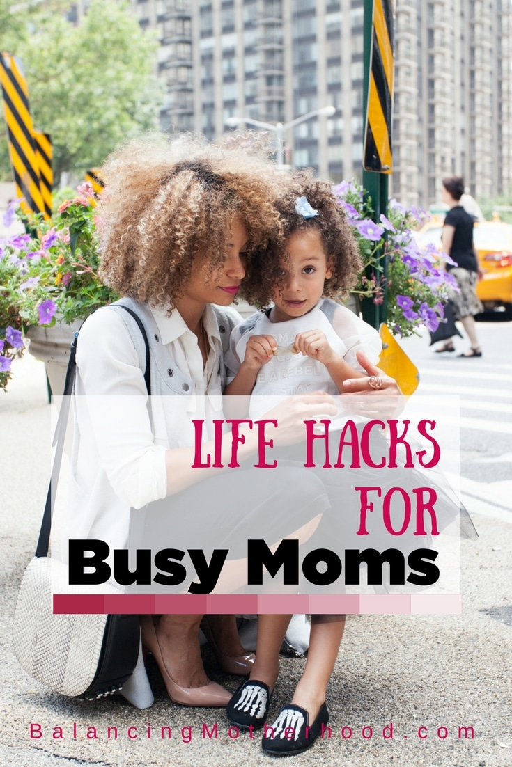 Life hacks for busy moms - do these simple things to help streamline your day and make life a little easier.