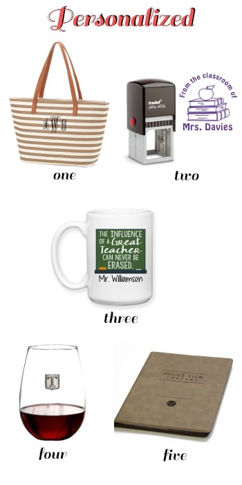 personalized teacher appreciation gifts