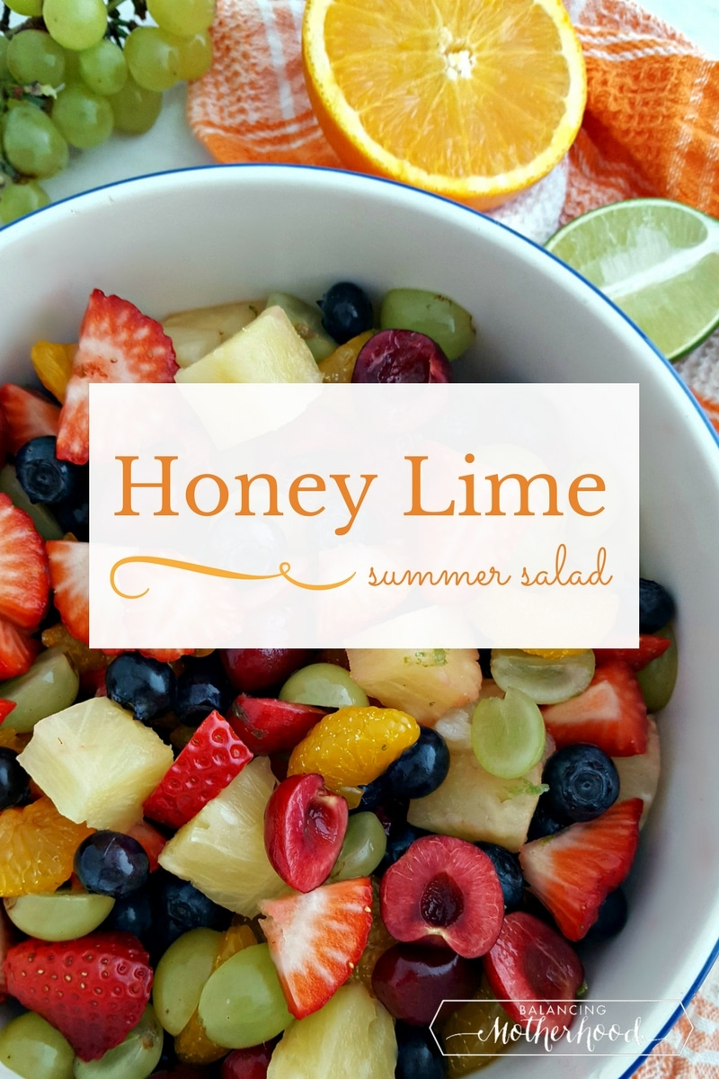 Honey line fruit salad