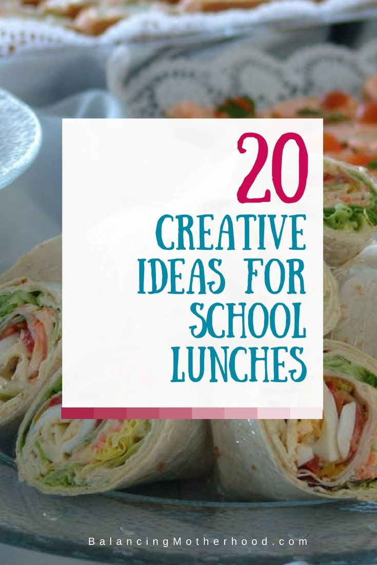20 creative ideas for school lunches