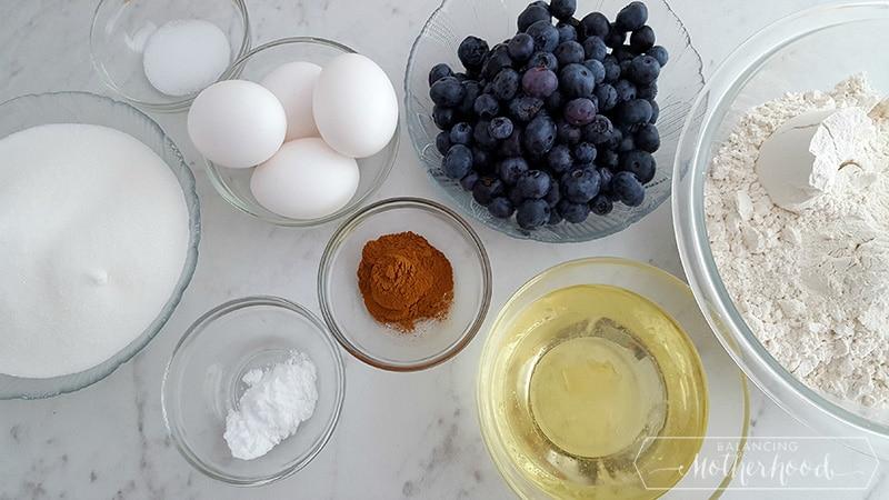 Blueberry Breakfast Bread Ingredients