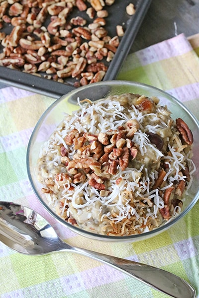 No Sugar Pecan Oatmeal