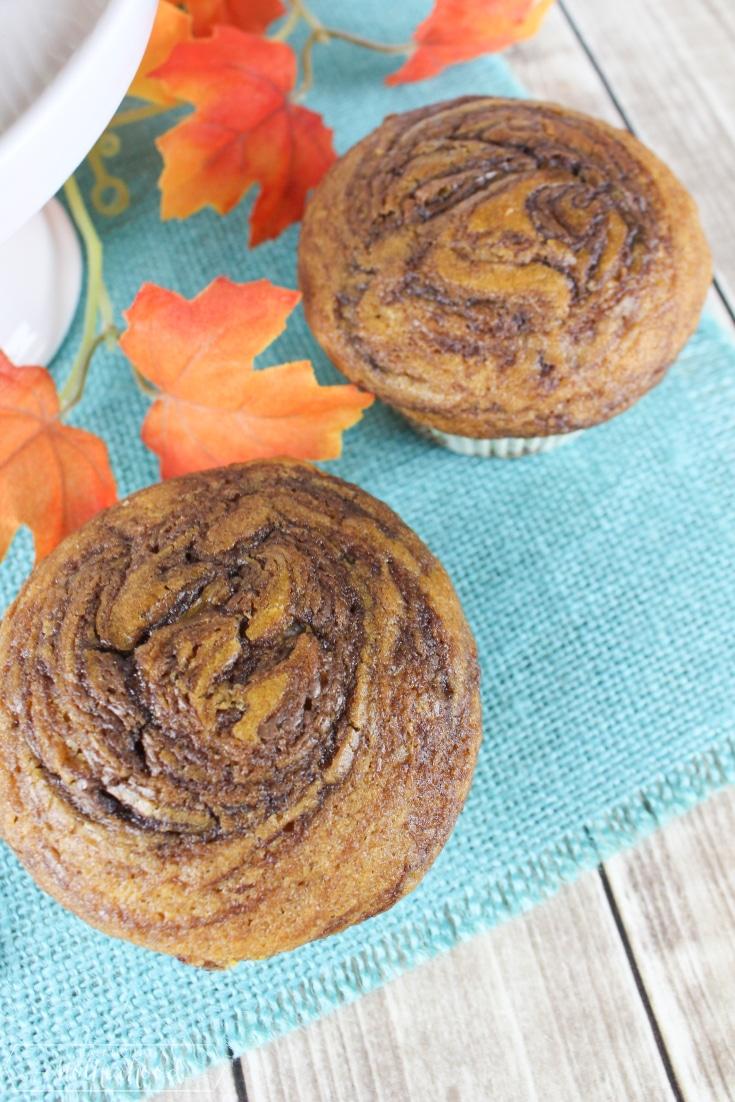 Pumpkin Nutella Muffin 2