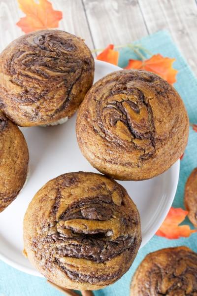 Pumpkin Nutella Muffin