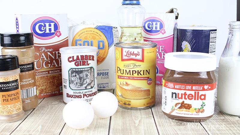 Pumpkin Nutella Muffins Ingredients