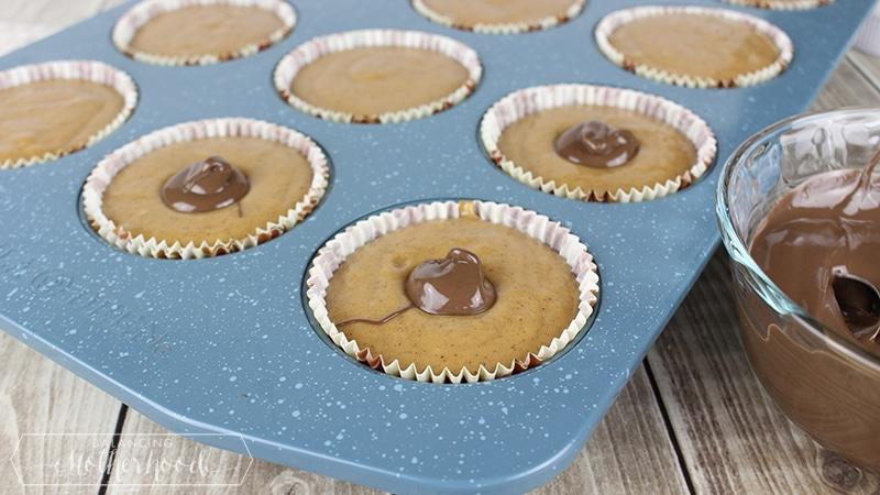 Pumpkin Nutella Muffins Step 5