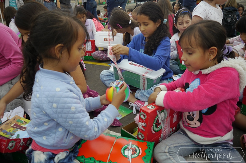 Kids opening their presents