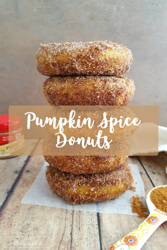 Easy Pumpkin Spice Donut recipe that's perfect for fall! Get the full recipe!