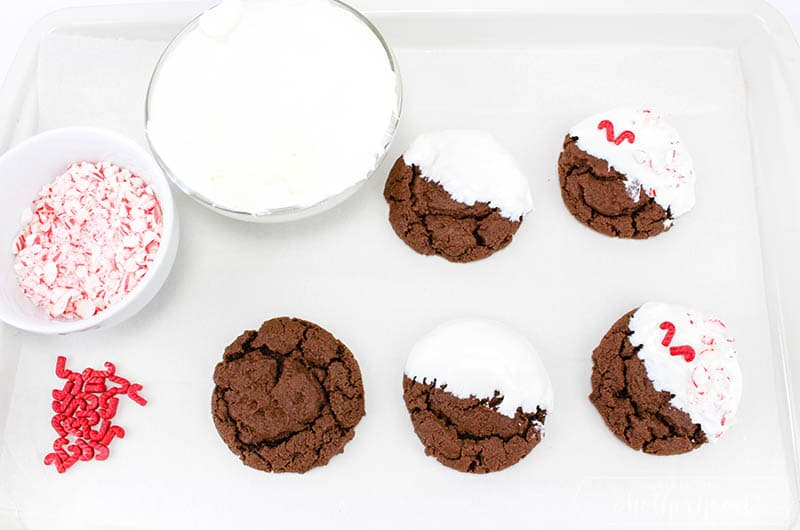 Chewy Chocolate Peppermint Cookies In Process 5