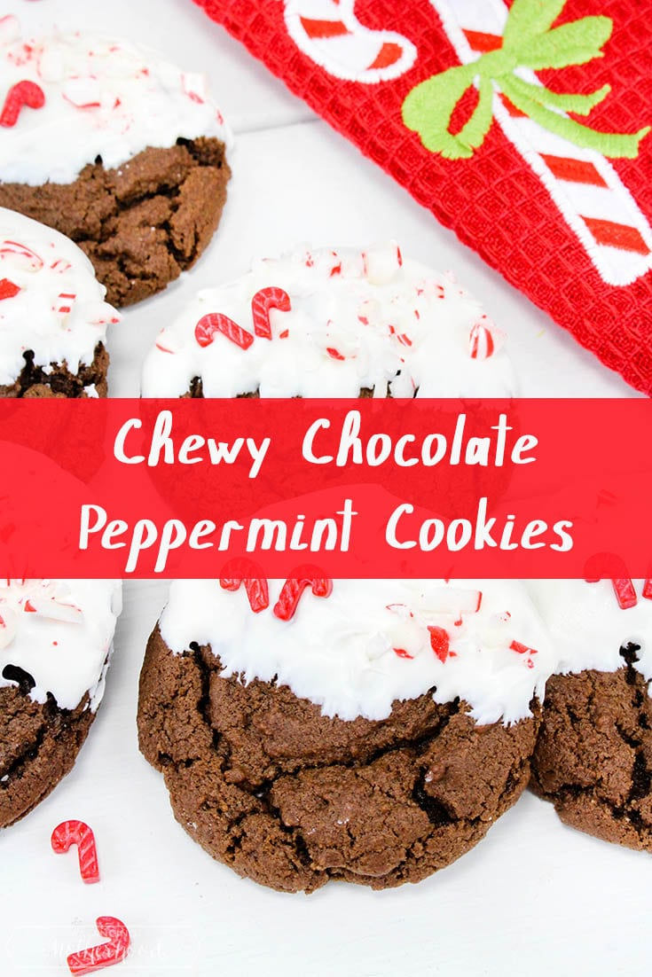 Chewy Chocolate Peppermint Cookies Pinterest