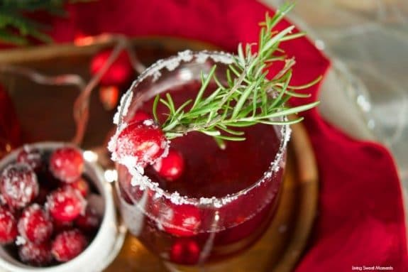 holiday cranberry mocktail