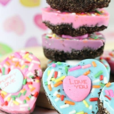 Oreo Bark Conversation Hearts