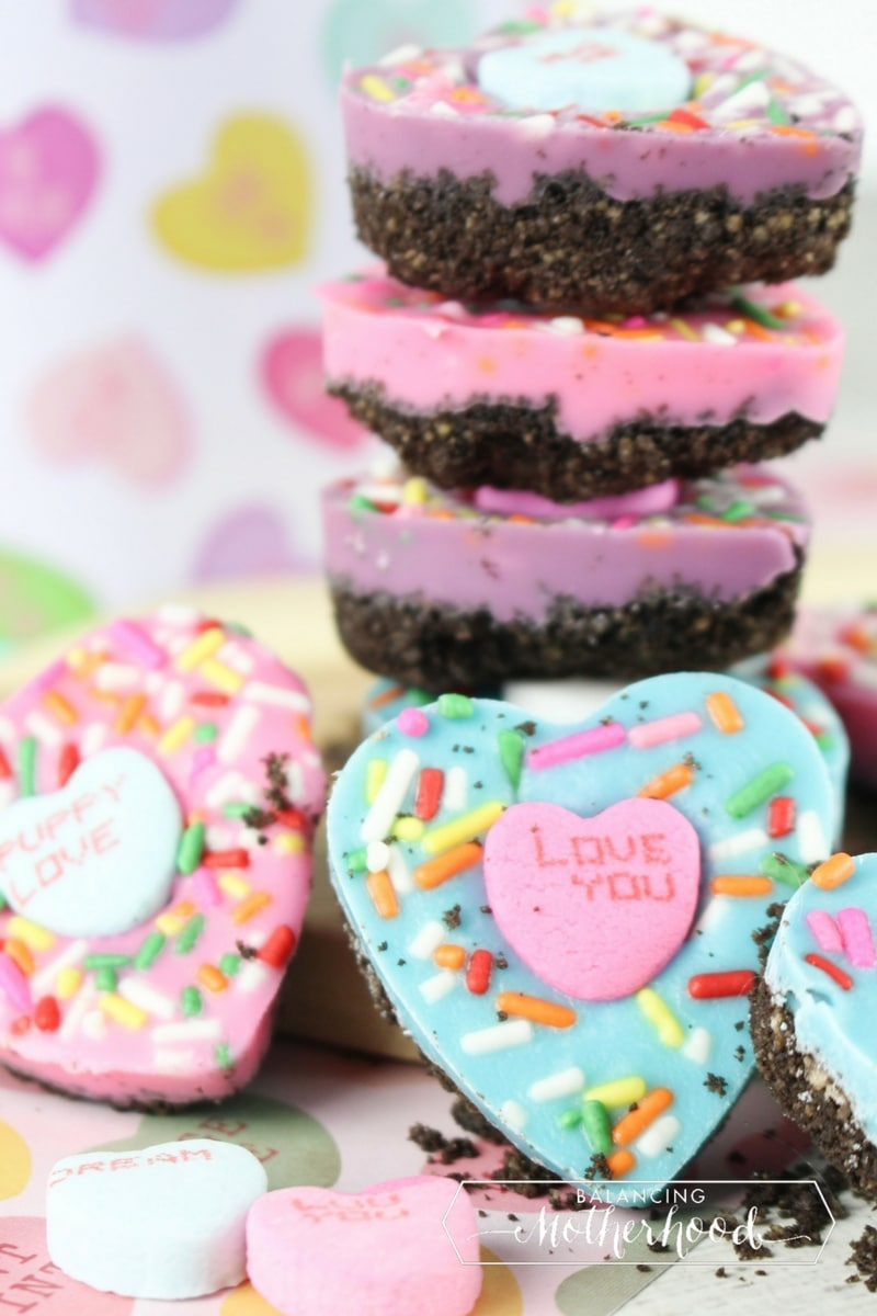 oreo bark conversation hearts are perfect treat for Valentine's Day