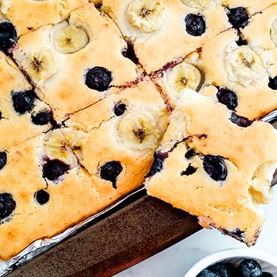 Baked Pancakes: Banana Blueberry Baked Pancakes