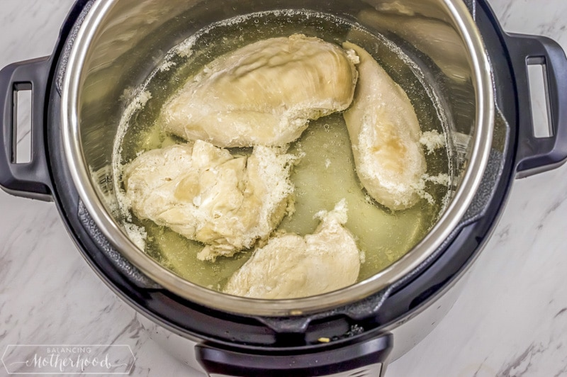 cooked chicken in the instant pot